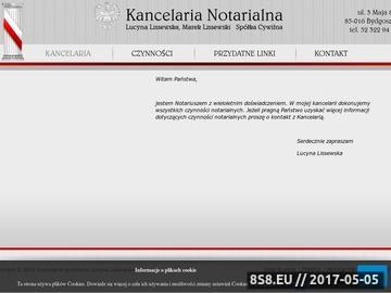 Zrzut strony Kancelaria Notarialna Lucyna Lissewska - notariusz w Bydgoszczy