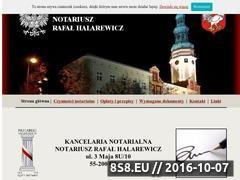 Miniaturka domeny www.notariuszolawa.pl