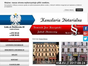 Zrzut strony Kancelarie notarialne Łódź