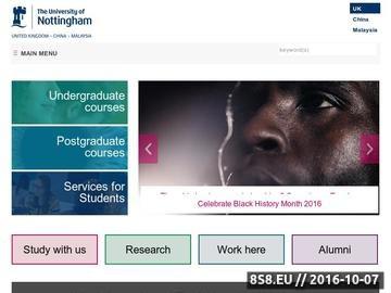Zrzut strony Elektronika i Elektrotechnika na Uniwersytecie w Nottingham