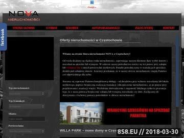Zrzut strony Biuro nieruchomości Częstochowa - Nova Nieruchomości