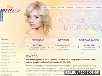 Zrzut strony Salon urody i odnowy Novatio