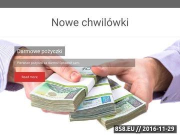 Zrzut strony Pożyczki gotówkowe