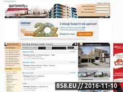 Miniaturka domeny www.nowedomywarszawa.apartamenty.pl
