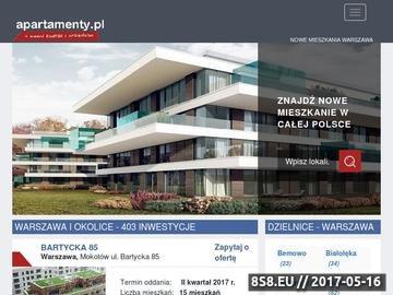 Zrzut strony Nowe mieszkania Warszawa