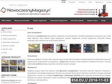 Zrzut strony Kompleksowe wyposażenie magazynów - Nowoczesny Magazyn