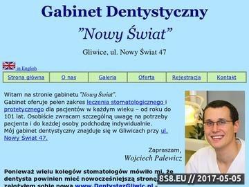 Zrzut strony Gabinet Stomatologiczny - Lek. Dentysta Wojciech Palewicz, Gliwice