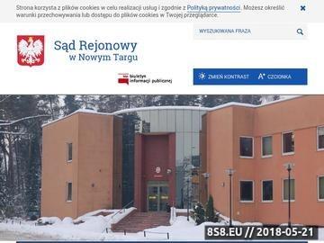 Zrzut strony Sąd Rejonowy W Nowym Targu - sprawy sądowe