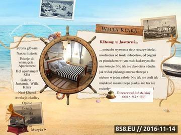 Zrzut strony Noclegi w Jastarni Willa Klara