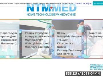 Zrzut strony NTM-MED Nowe Technologie w Medycynie