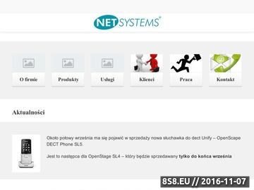 Zrzut strony Centrale telefoniczne Siemens HiPath - NET Systems Kraków