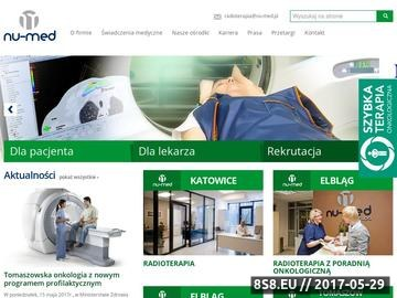 Zrzut strony Badania radiologiczne NU-MED