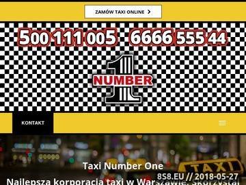 Zrzut strony Taxi Warszawa - Number One