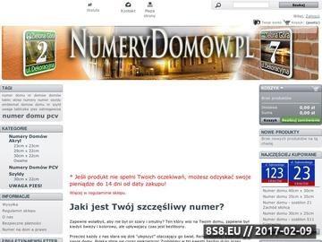 Zrzut strony NumeryDomow.pl - numery domów szyte na miarę.