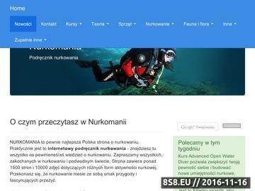 Zrzut strony Nurkowanie - kursy nurkowania Kraków - Nurkomania