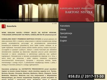 Zrzut strony Usługi z zakresu przepisów prawa