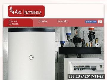 Zrzut strony ABC INŻYNIERIA montaż i uruchomienie systemów gazowych