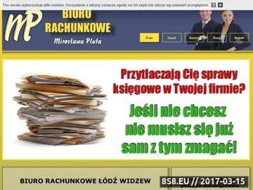 Zrzut strony Obsługa księgowa - Biuro Rachunkowe M.Pluta