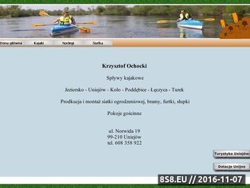 Zrzut strony Spływy kajakowe OCHOCKI
