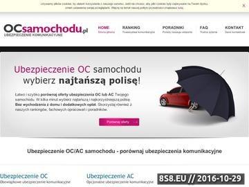 Zrzut strony Ubezpieczenie OC samochodu