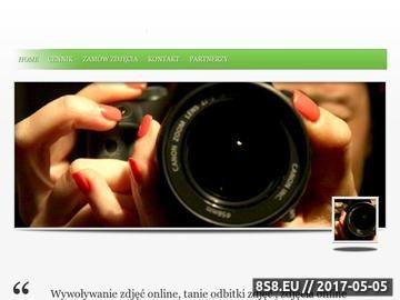 Zrzut strony Odbitkionline.net.pl - wywoływanie