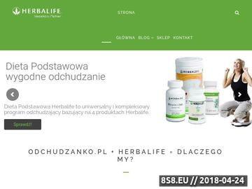 Zrzut strony Diety Herbalife
