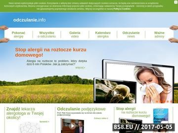 Zrzut strony Pyłki, roztocza oraz alergia - odczualnie.info