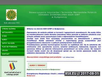 Zrzut strony ODK SIMP kurs na elektryka