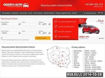 Zrzut strony Wypożyczalnia samochodów Kraków
