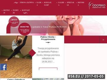 Zrzut strony Akademia Formy i Tańca Odoriko