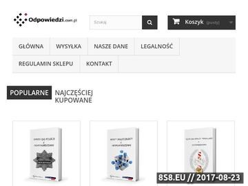 Zrzut strony Testy do Policji - Odpowiedzi.com.pl