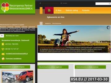 Zrzut strony Odszkodowania powypadkowe, komunikacyjne i medyczne - reCompensa Partner