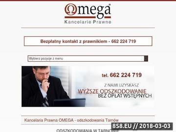Zrzut strony OdszkodowaniaTarnow.pl
