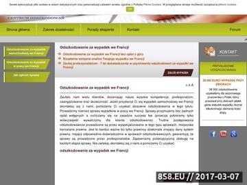 Zrzut strony Odszkodowanie za wypadek we Francji