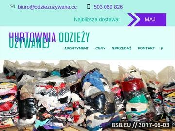 Zrzut strony Odzież używana