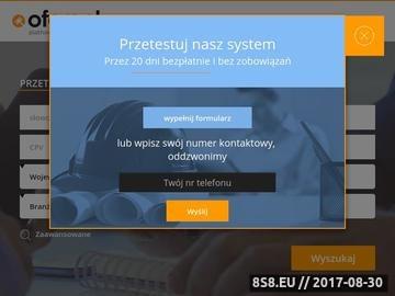 Zrzut strony Portal przetargowy