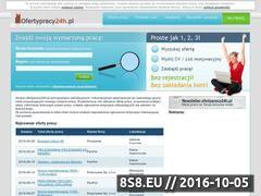 Miniaturka domeny www.ofertypracy24h.pl