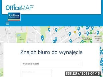 Zrzut strony Wynajem biur officemap.pl