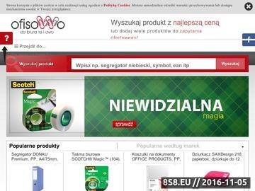 Zrzut strony Porównywarka cen artykułów i materiałów biurowych