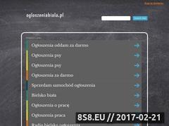 Miniaturka domeny www.ogloszeniabiala.pl