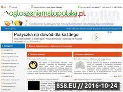 Miniaturka domeny www.ogloszeniamalopolska.pl