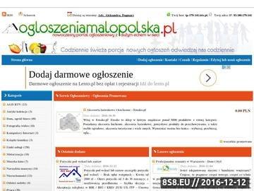 Zrzut strony Darmowe ogłoszenia małopolska, drobne Kraków - serwis ogłoszeniowy