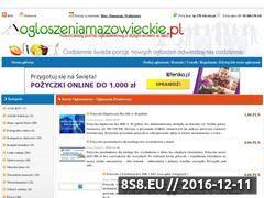 Miniaturka domeny www.ogloszeniamazowieckie.pl