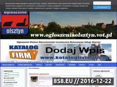 Miniaturka domeny www.ogloszeniaolsztyn.vot.pl
