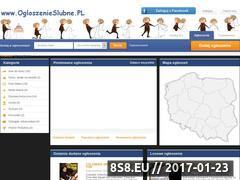 Miniaturka domeny ogloszenieslubne.pl