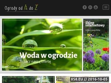 Zrzut strony Ogrody od A do Z - projekty ogrodów