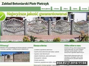 Zrzut strony Zakład betoniarski - ogrodzenia betonowe