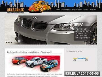 Zrzut strony Oklejanie samochodów Warszawa - reklama na samochodzie Warszawa
