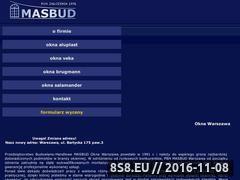 Miniaturka domeny www.okna-masbud.pl