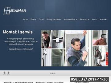 Zrzut strony Okna PCV na długie lata od firmy BiaMar z miasta Wrocław
